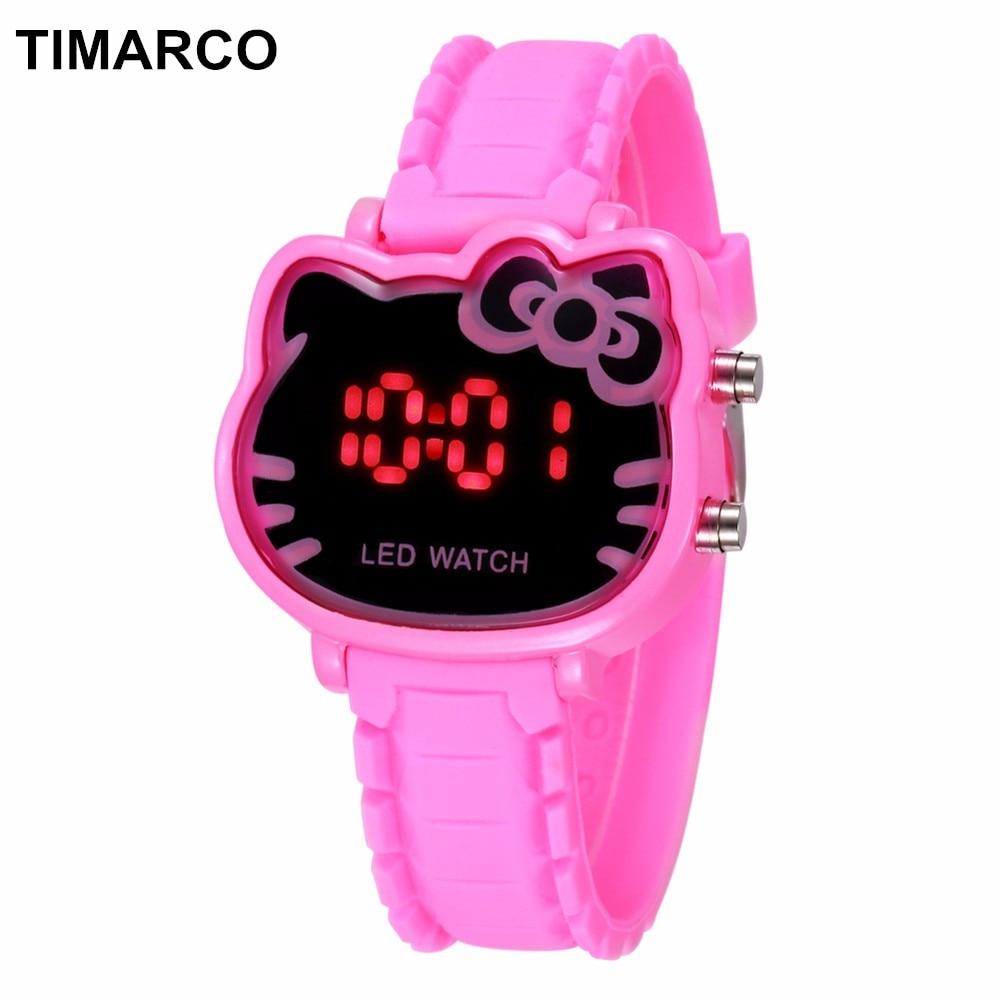 Hearty Hello Kitty Cute Children Watches Cartoon Straps Baby Clocks Girls Boy Pink Reloj Enfant Ceasuir Pupil Dress Saats Superman Hour Watches
