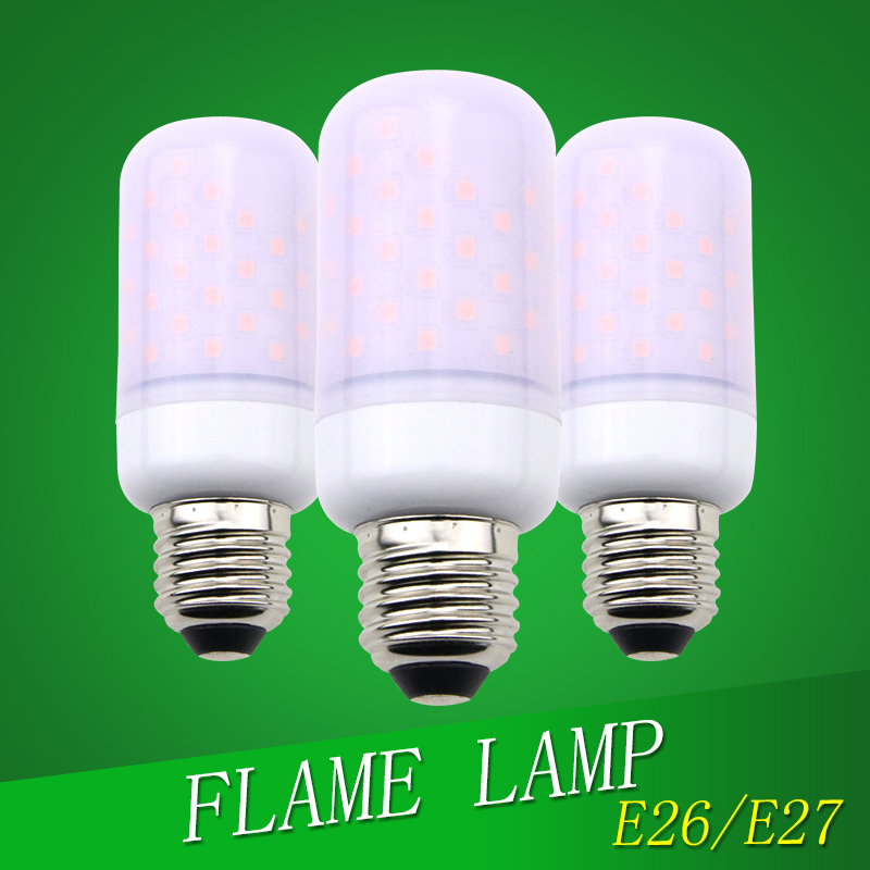 Candle Bulb LED Flame lamp E27 E26 E14 Holiday lighting AC85-265V 2835SMD Corn Bulb lamp Two Modes Christmas decoration lights smart bulb e27 7w led bulb energy saving lamp color changeable smart bulb led lighting for iphone android home bedroom lighitng