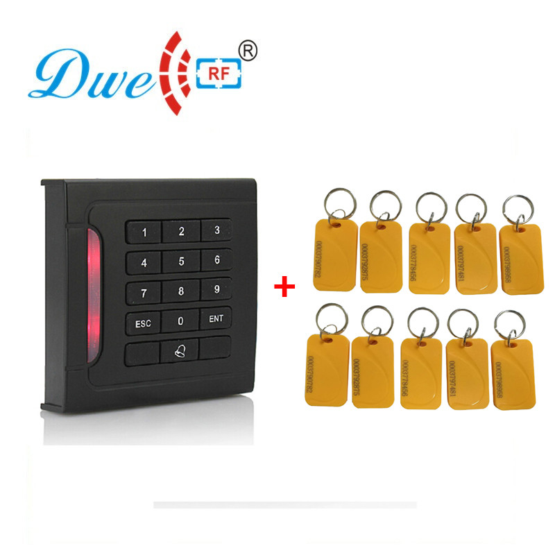 DWE CC RF 125Khz RFID reader EM4100 proximity sensor smart card reader for access control 130db personal alarm key chain with mobile speaker personal alarm with led flashlight support oem logo
