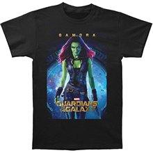 Printed T-shirt Men's Short Sleeve O-neck T-shirts Summer Stree Twear Guardians Of The Galaxy Gamora Poster T-shirt