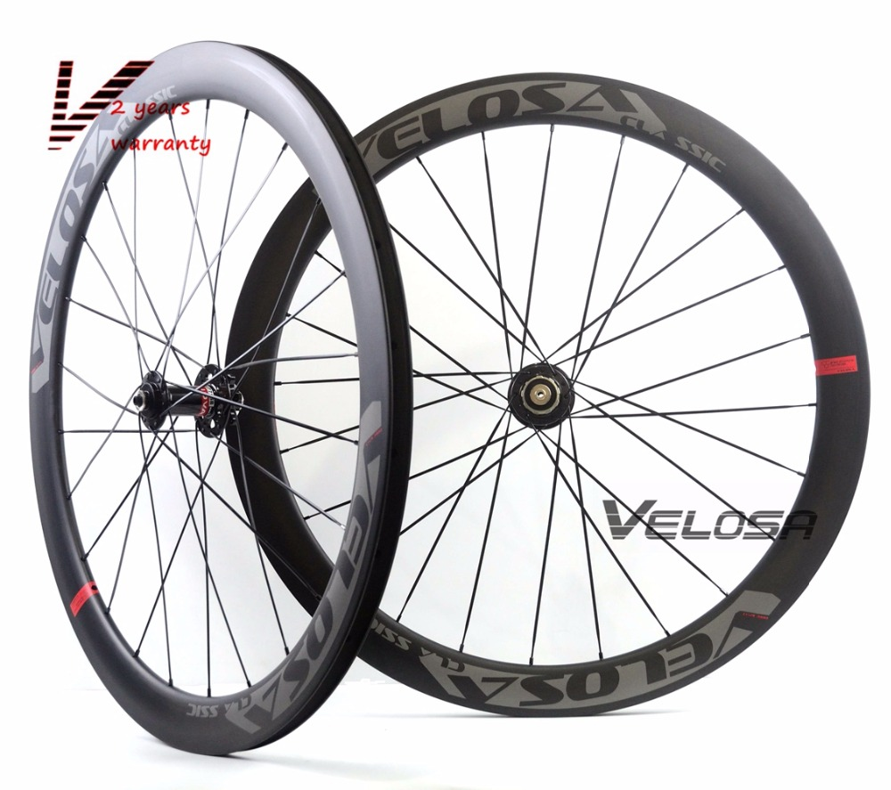 Velosa Disc 50 Road Disc Brake carbon wheelset, 50mm clincher/tubular ,700C road bike wheel,cyclocross wheel velosa supreme 50 bike carbon wheelset 60mm clincher tubular light weight 700c road bike wheel 1380g