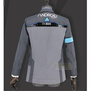 Image 3 - بدلة آنييل ديترويت: تصبح كونور RK800 بشرية زي تأثيري للرجال معطف وقميص موحد لحفلات الهالوين للبالغين