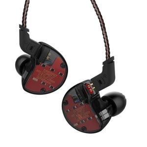Image 1 - KZ ZS10 1DD+4BA Drive Unit Hybrid In Ear Earphone IEM Detachable Detach 2Pin Cable DJ HIFI Monitor Sport  Smartphone Earphone