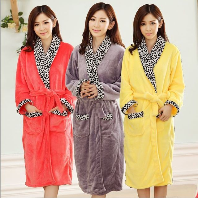 2016 New Sexy Bathrobe For Women Robe/Gown Sets comfortable casual pajamas homewear Robe Long-sleeved sleepwear free shipping