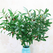 90cm high 6 fork Green Artificial Olive Branches Simulation Fruit Artificial Plant Leaves Home Wedding Decorative Fake Flowers home decorative high simulation ombre artificial flowers