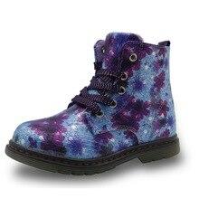 Apakowa floral automne hiver enfant petite fille bottes étanche enfants martin papillon des bottes enfants chaussures de marque filles chaussures