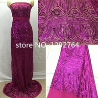 Free Shipping !African High quality guipure lace sequence lace sequin embroidery tulle lace fabric for  women dressTS2342