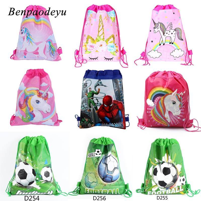 Fashion Unicorn Drawstring Bag for Girls Kids Backpack for Boys School Bags  Cute Cartoon Drawstring Bags Travel Storage Package 1d9921a7e1cb6