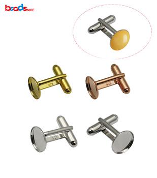 Beadsnice stałe 925 Sterling srebrne spinki do mankietów ręcznie robione srebrne spinki do mankietów spinki do mankietów puste dla majsterkowiczów tworzenia biżuterii hurtowych ID27501 tanie i dobre opinie Moda Tie klipów i spinki do mankietów SILVER TRENDY Mężczyźni Metal 27501smt2 Symulowane perłowej Okrągły 2pcs per lot