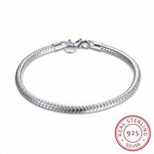 Женский браслет цепочка из серебра 925 пробы 4 мм