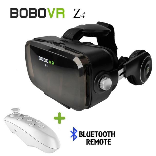 Bobovr z4 gafas 3d bobo z4 mini vr vr realidad virtual auriculares caja google cartón caja + bt auriculares vr controlador para iphone