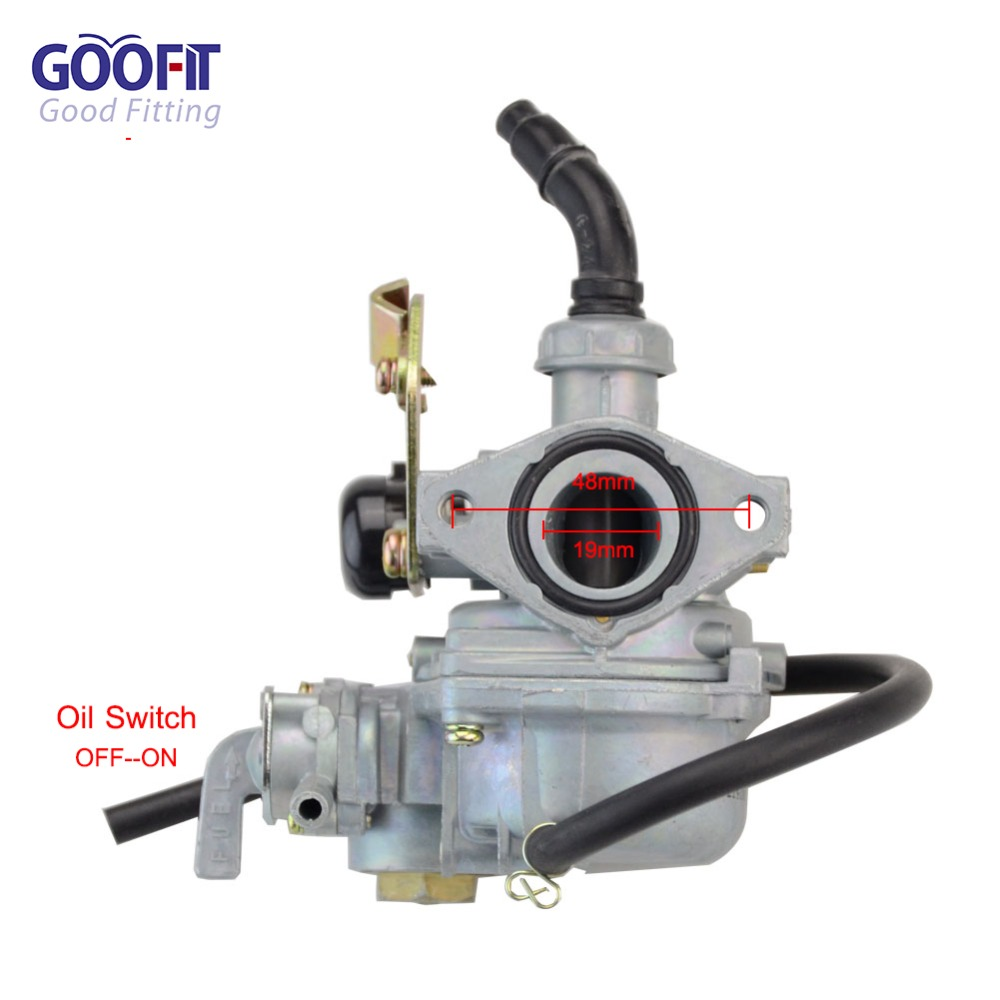 US $22 09 25% OFF|GOOFIT PZ19 19mm Carburetor with Choke Cable for 50cc  70ccc 90cc 110cc 125cc ATV Roketa TaoTao NST Scoooter Moped N090 068 2-in