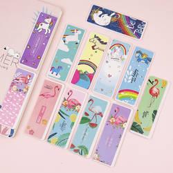 6 шт. милый мультфильм Единорог Фламинго Закладка животные Книга маркеры бумага клип для детей подарок корейский школьные принадлежности