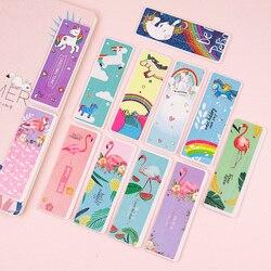 6 шт. милый мультяшный Единорог Фламинго Альпака Закладка кактус животные бумажный зажим для детей подарок корейские школьные канцелярские...