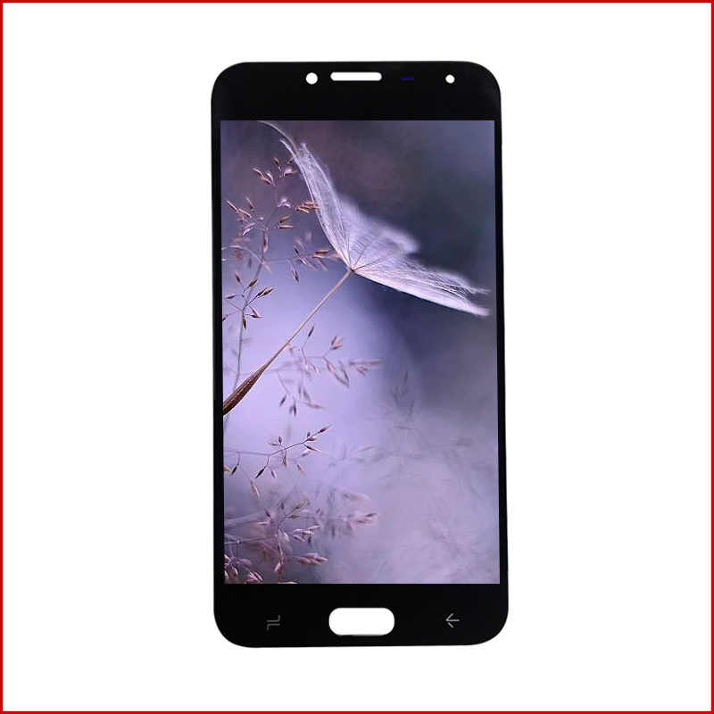 AMOLED لسامسونج غالاكسي J4 2018 LCD J400 SM-J400H J400M J400G J400FN J400F شاشة الكريستال السائل محول الأرقام بشاشة تعمل بلمس الزجاج الجمعية