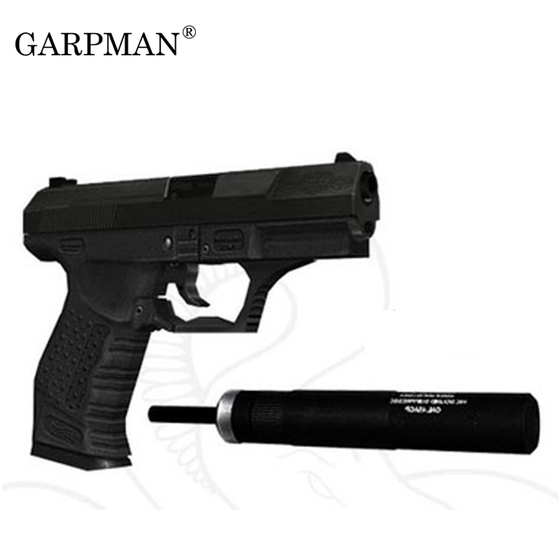 1:1 007 Use P99 Pistol Paper Model Weapon Gun 3D Handmade Drawings Military Paper Jigsaw Puzzle Toy