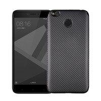 10pcs Lot Carbon Fibre Soft TPU Cover Case For Xiaomi Mi6 M6 Redmi 4A Redmi 4