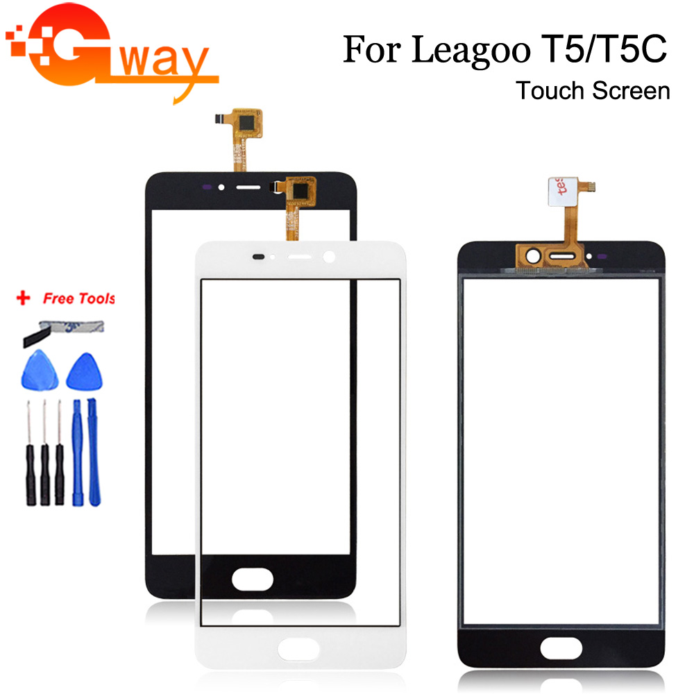 Touch Sensor Front Glass For Leagoo T5 Touch Screen Digitizer For Mobile Phone Leagoo T5C Touch Panel With Free Tools