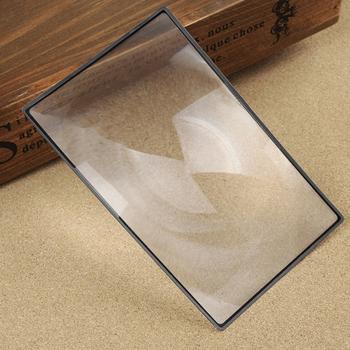 1 sztuka książki powiększenie strony X3 180X120mm wygodne A5 płaskie pcv lupa arkusz powiększające czytanie szklany obiektyw tanie i dobre opinie Inpelanyu CN (pochodzenie) NONE Handheld JJ3232 Brak Other Ultra-thin magnifying glass 175X115mm