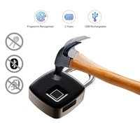 Hard Stainless Steel Anti hammer Anti theft Fingerprint Lock Bluetooth Fingerprint Password Padlock App Remote Management Unlock