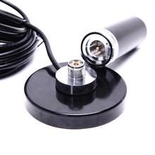 Автомобильная Радио Двухдиапазонная УКВ антенна с 5 м коаксиальным кабелем магнитное крепление база УКВ 136-174 МГц/400-480 МГц BNC разъем