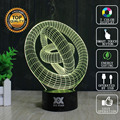 Abstract Circular 3D Lamp USB Novelty Night Lights Three-dimensional ring Lamp Glowing Child's Gift HUI YUAN Brand