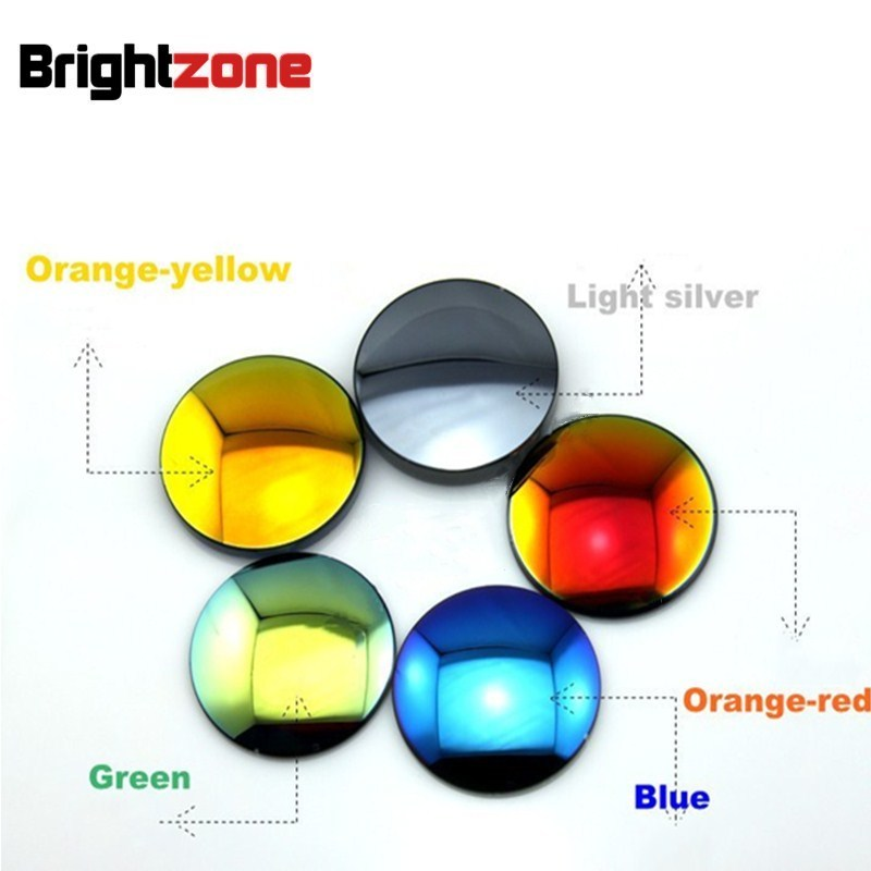 New High Grade Brand CR 39 Resin Blue Mirror Colorful Myopia Prescription Polarized Sun lens Rx