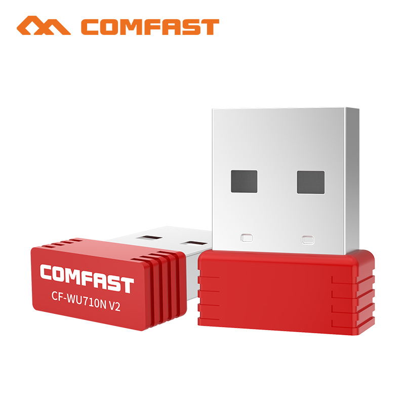 Comfast CF-WU710V2 Mini USB Wi-fi adapter 2.4G Wifi dongle 150Mbps 802.11b/g/n Wifi Emitter Wi fi Receiver Network Card Antenna comfast cf wu730a 2 4ghz 802 11b g n 150mbps usb 2 0 wireless wi fi network adapter white black