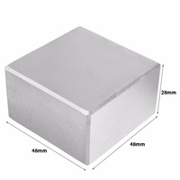 1pc N52 Grade Super Strong Square Block Magnet Rare Earth Big Neodymium Fridge Magnets 48 48