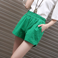 Summer Linen Booty Shorts For Women Solid Color Casual Pocket Short Shorts