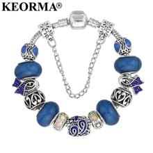 European Ribbon Charm Bracelet