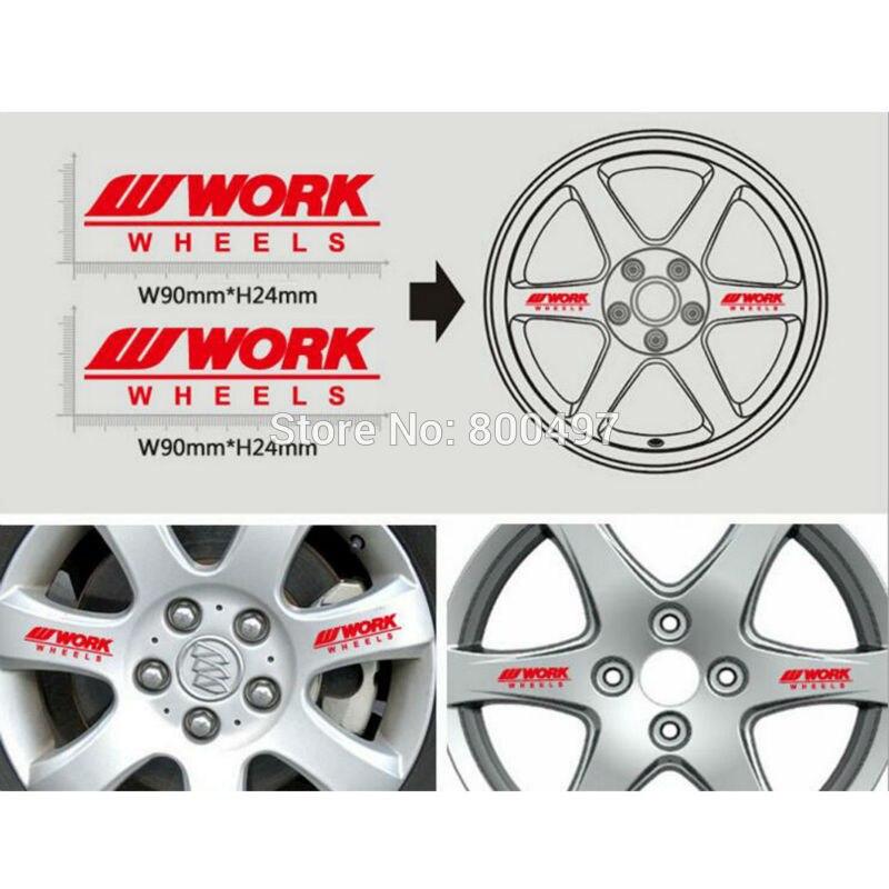 4 X New Car Styling Car Wheel Rim Decorative Vinyl Stickers Decorative Decals Car Accessories Decals For Work Wheel