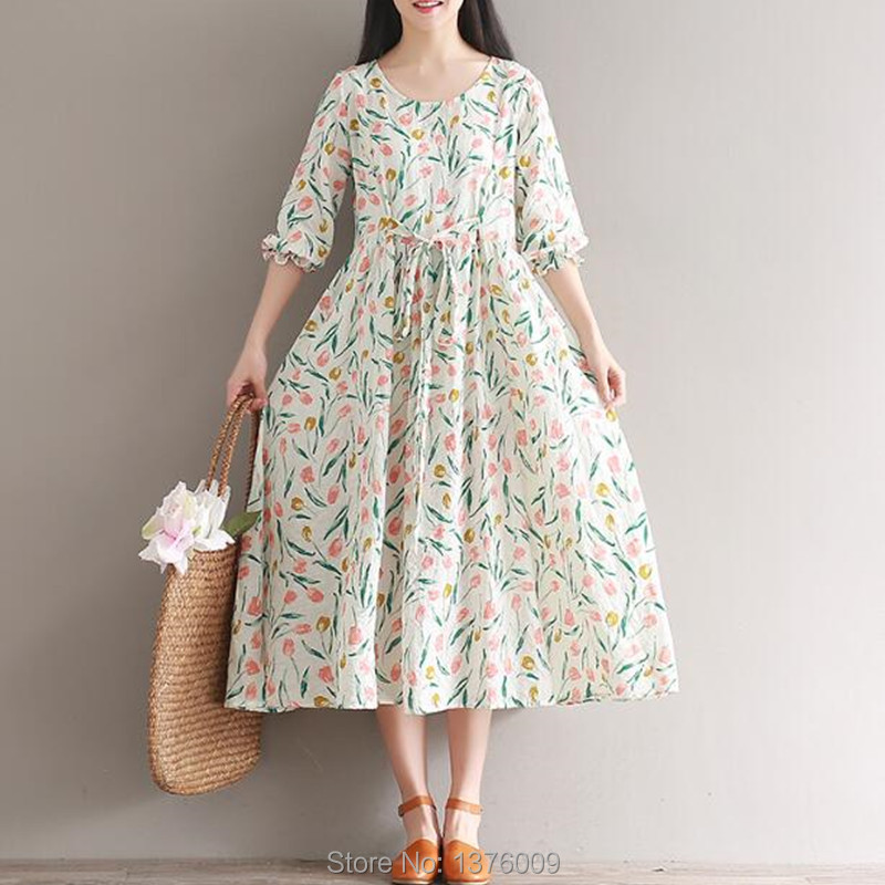 Harajuku Dress Women Retro 80s 90s Costume Summer Floral Dresses Elegant Lady Mori Girl Female Party Beach Dress