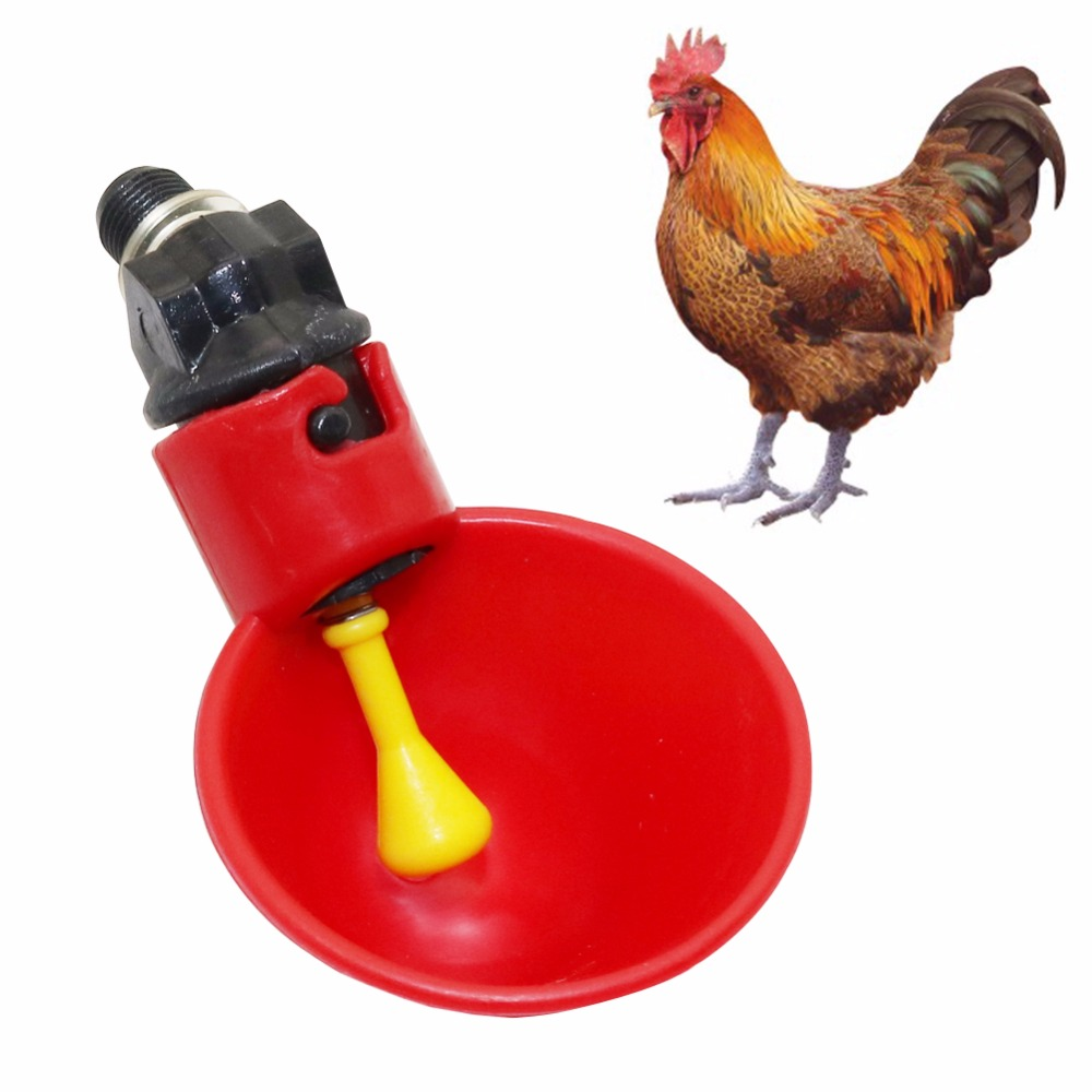 2Pcs Poultry Water Drinking Cups Automatic Quail Chicken Drinker Plastic Chicken Fowl Drinker Cups Breeding Equipment