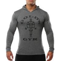 Mens Bodybuilding Hoodies Golds Turnhallen Kleidung Workout Slim Fit Sweatshirts Männliche Mit Kapuze Trainingsanzug Jungen Sportbekleidung Baumwolle