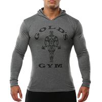 Bodybuilding Clothing Shirts Golds Gym Muscle Long Sleeve T Shirts Casual Sport Hoodies Sweatshirts Fitness Mens