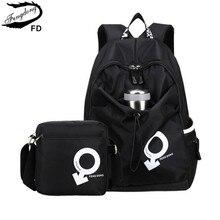 Fengdong водонепроницаемая обувь черного цвета ткани школьников мешок мальчиков ноутбук рюкзак мужчины дорожные сумки Bagpack женщины сумка на плечо небольшой рюкзак