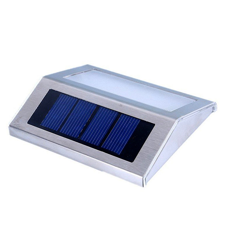 1X Waterproof Solar Lamp For Garden Decoration Led Solar Step Stair Lights,  Focos Solares Exterior Wall Lamp Lampara Led Solar