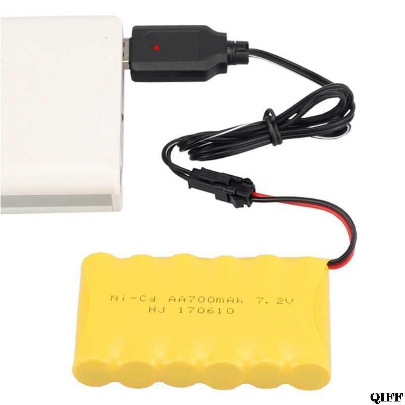 ドロップ船 & 卸売 USB 充電ケーブル Ni 水素電池パック SM プラグアダプタ 7.2V 250mA 出力リモートコントロールおもちゃの APR28