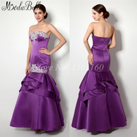 High Quality Satin Sexy Junior Modest Prom Dresses Mermaid On Sale 2015 Long Ruffles Prom Party