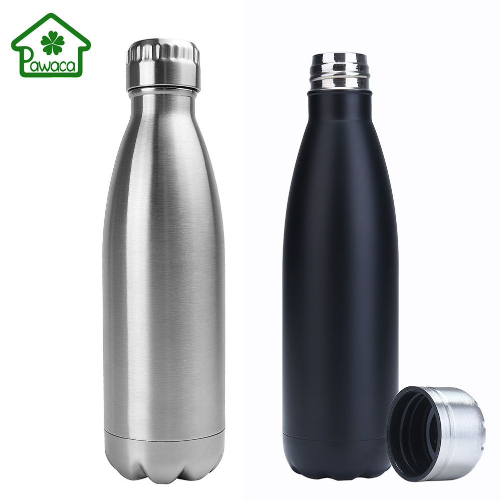 500ml Double Wall Vacuum Insulated Stainless Steel Water Bottle Outdoor Sports Travel Thermos Cup Water Cup