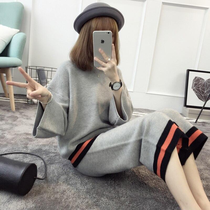 New wool font b clothing b font wide leg pants 2017 autumn fashion set Korean version