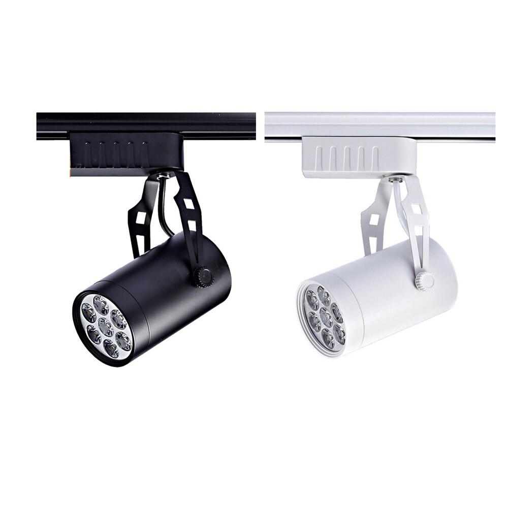 Us 97 96 38 Off 10pcs Led Track Lighting 3w 7w 12w 18w Retail Spot Wall Lamp Rail Spotlights Replace Halogen Lamps White Black In