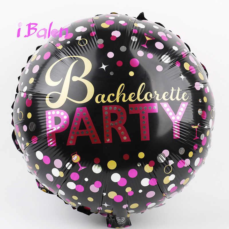 Вечерние воздушные шары из фольги, 18 дюймов, 50 шт., гелиевый черный воздушный шар для девушек, вечерние украшения, Miss gifts Globos, оптовая продажа