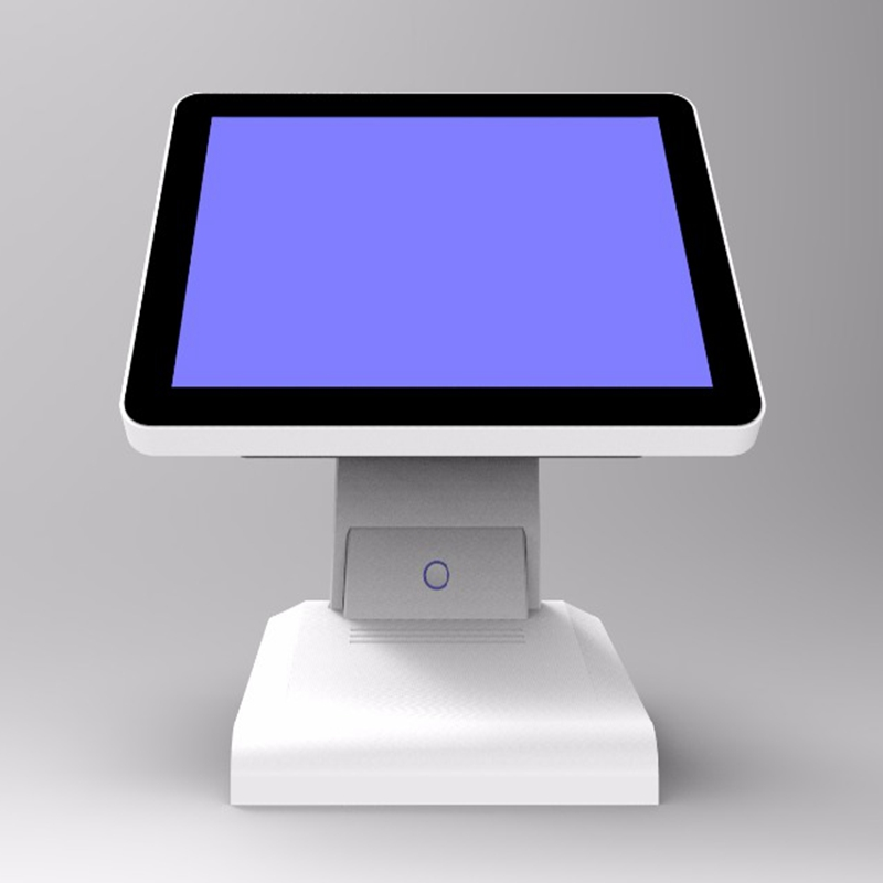 New Stock  I3 Cpu DDR 8G Msata 128g SSD WIFI 15 Inch Capacitive Touch Screen All In One POS Terminal With MSR Card Reader