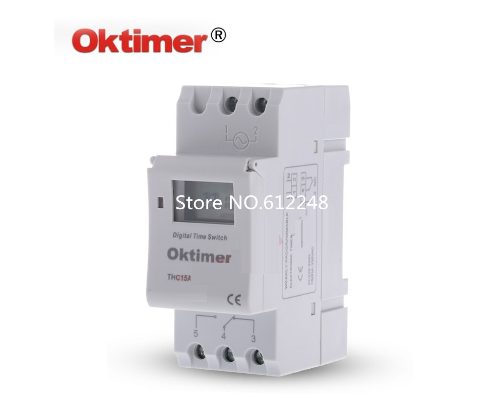 Microcomputer Electronic Programmable Digital Timer Switch Relay Circuit Control 12v 110v 220v 16a Din Rail Mount Thc15a In Timers From Tools On