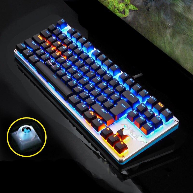 87 blue light black