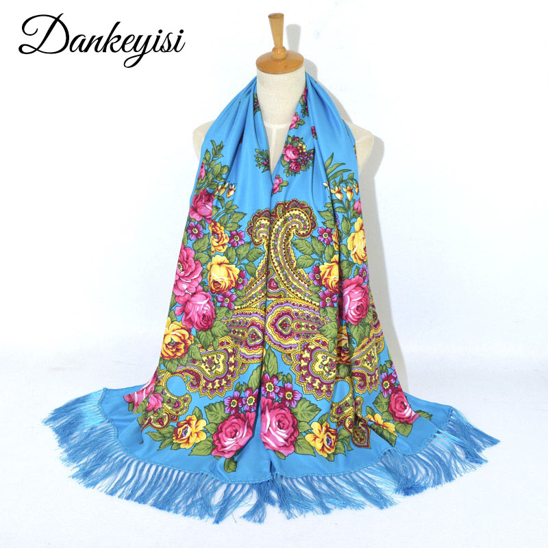 DANKEYISI Winter Shawl Neck-Scarf Tassel-Print Female Cotton Women New-Fashion Autumn