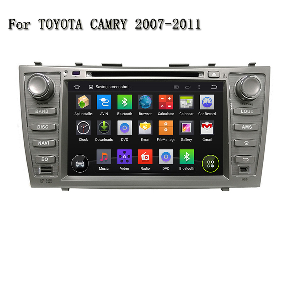 8 Inch Android 5.1 Quad Core Car Navigation Support Video Output,DVR,Tpms,With BT GPS Car DVD Player For Toyota CAMRY 2007-2011