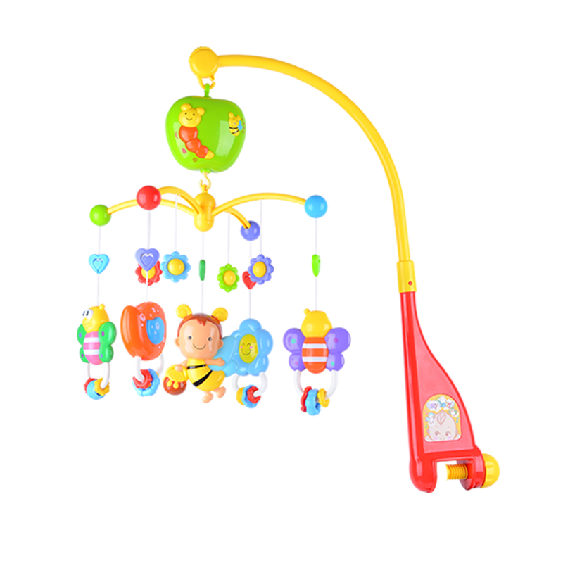 New Rotating Children Plastic Crib Toy Musical Mobile Multinational musical bed bell Baby Toys Baby Rattle Rotating with Animals baby crib musical mobile bell music box with holder arm daytime and evening mode baby bed hanging rattle toys newborn gift